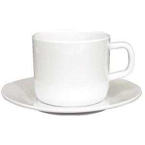 XXLselect Schoteltje voor Koffiekop | Wit Melamine | 12 Stuks