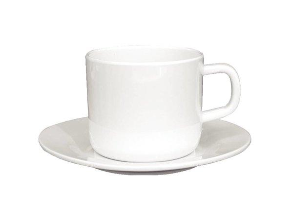 XXLselect Schoteltje voor Koffiekop   Wit Melamine   12 Stuks