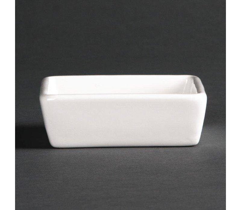 XXLselect Bakje 2,5cm Hoog | Lumina Wit Porselein | 6 Stuks