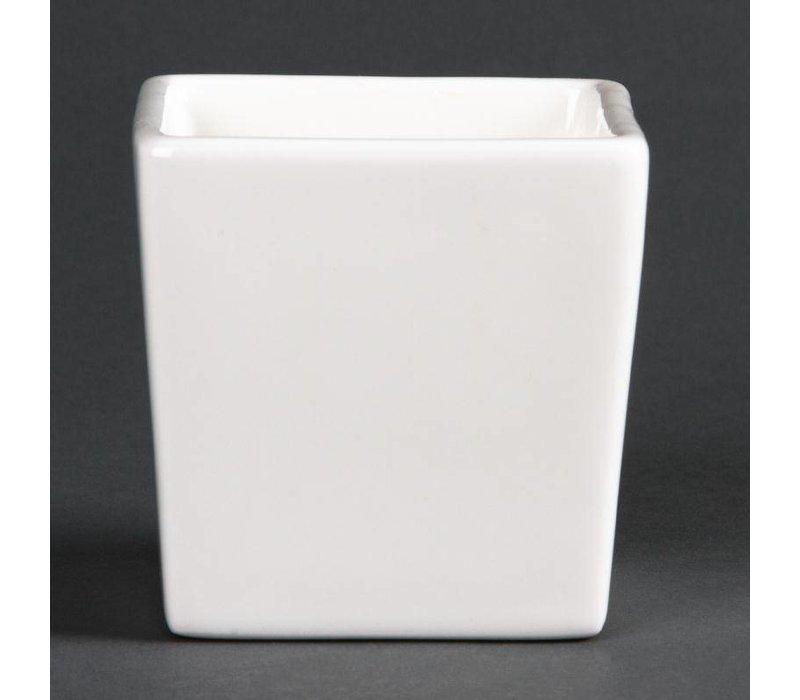 XXLselect Bakje 7,5cm Hoog | Lumina Wit Porselein | 6 Stuks