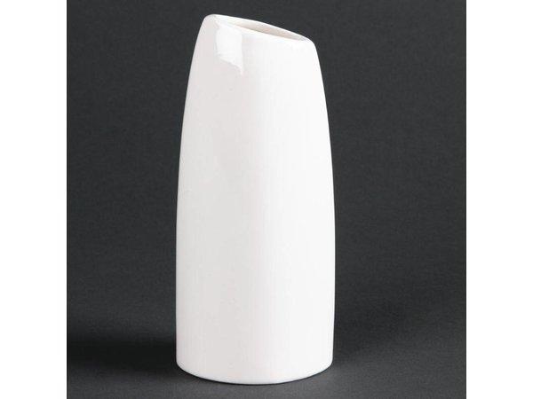 XXLselect Ovale Vaas | Lumina Wit Porselein | 150mm | 6 Stuks