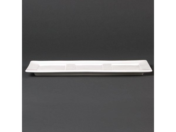 XXLselect Schaaltje | Lumina Wit Porselein | 300x120mm | 6 Stuks