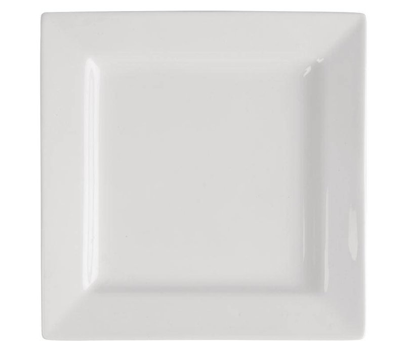 XXLselect Vierkant Bord | Lumina Wit Porselein | 170mm | 6 Stuks