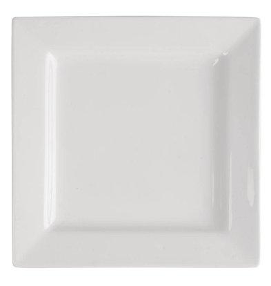 Lumina Vierkant Bord | Lumina Wit Porselein | 230mm | 4 Stuks