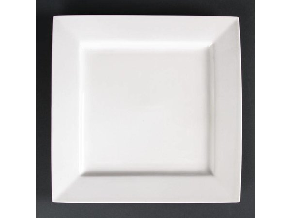 XXLselect Vierkant Bord | Lumina Wit Porselein | 265mm | 4 Stuks