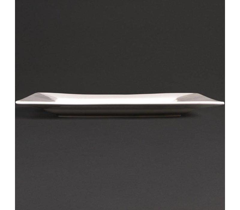 XXLselect Vierkant Bord | Lumina Wit Porselein | 300mm | 2 Stuks