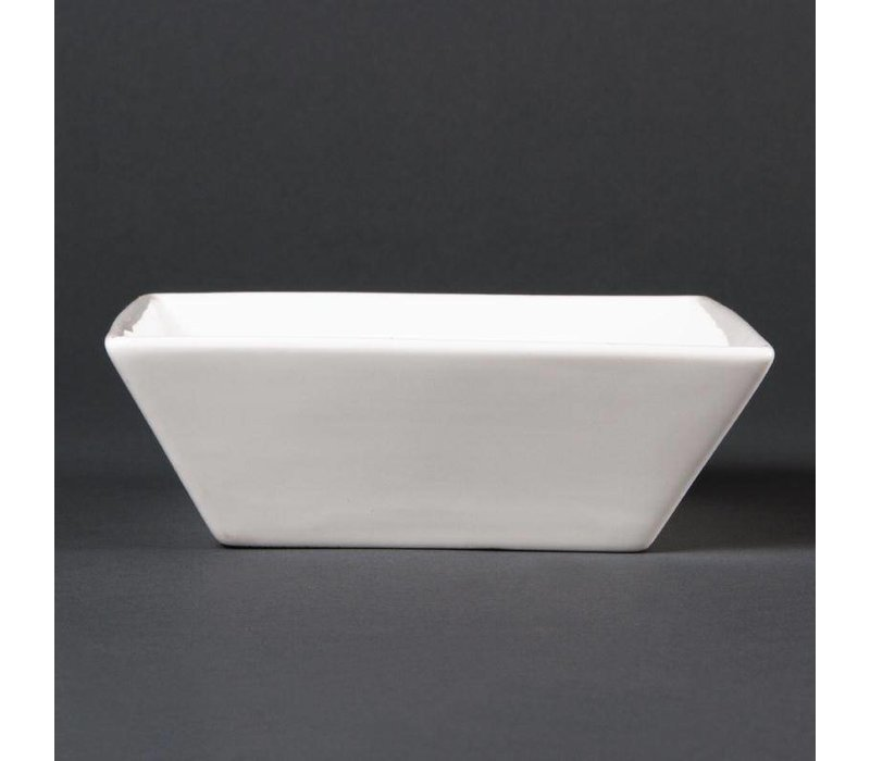XXLselect Vierkant Schaaltje | Lumina Wit Porselein | 140mm | 6 Stuks