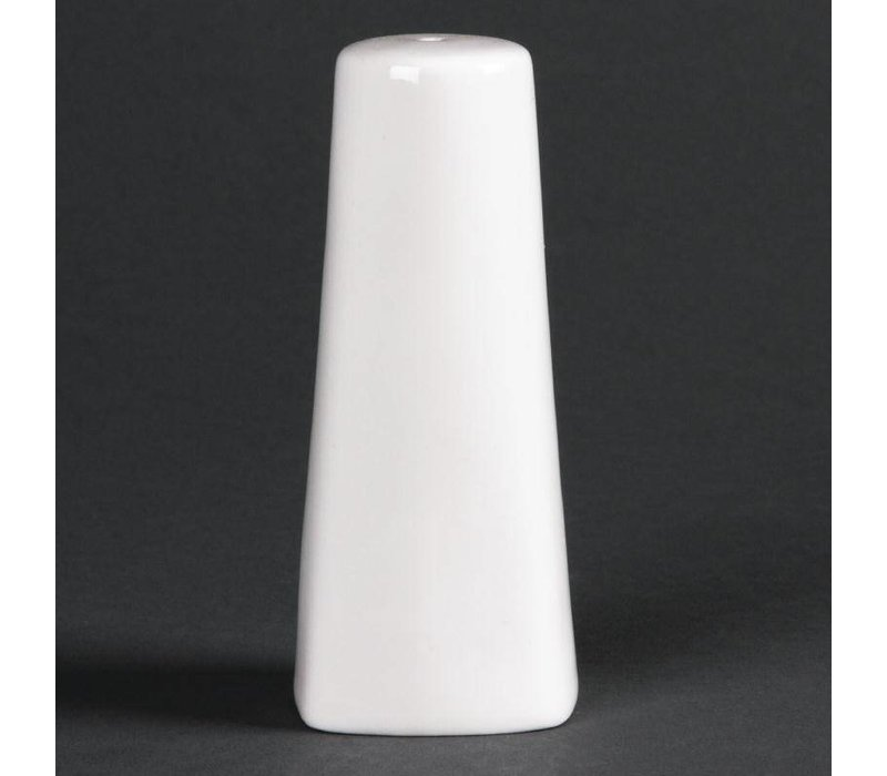 XXLselect Zoutstrooier | Lumina Wit Porselein | 100(h)mm | 6 Stuks
