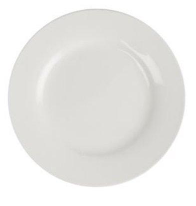 XXLselect Bord Broad Border | Lumina White Porcelain | Ø150mm | 6 pieces
