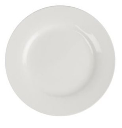 XXLselect Bord Broad Border | Lumina White Porcelain | Ø180mm | 6 pieces