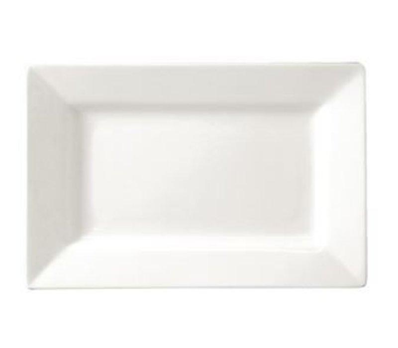 XXLselect Bord Brede Rand | Lumina Wit Porselein | 310x175mm | 2 Stuks