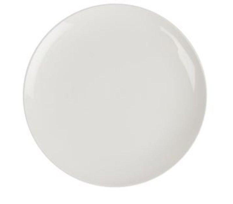 XXLselect Coupe Platte | Lumina Weißes Porzellan | 260mm | 4 Stück
