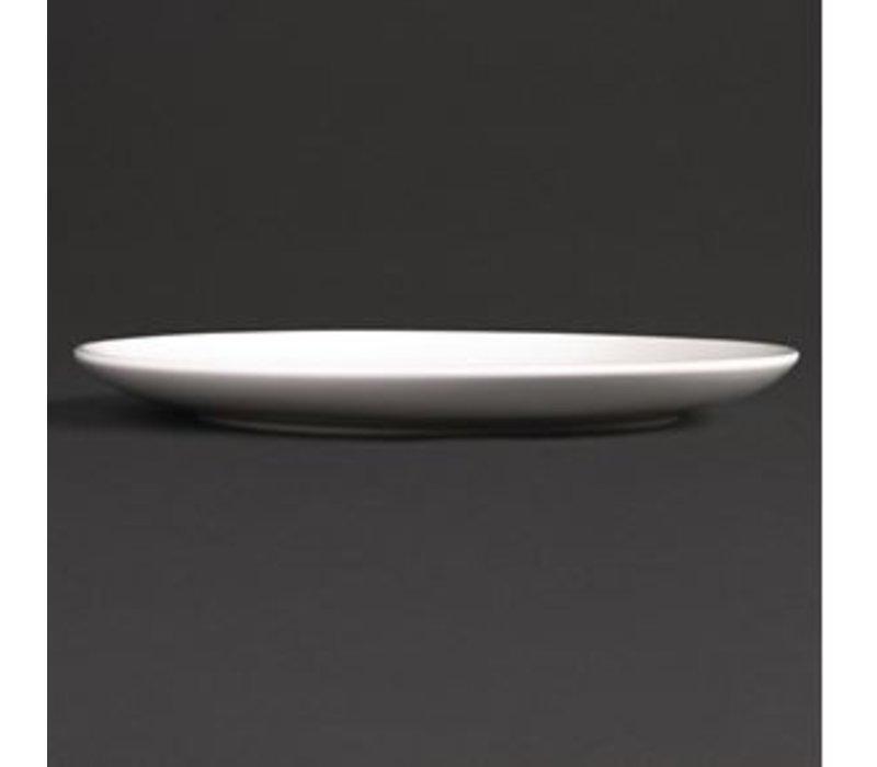 XXLselect Coupe Plate   Lumina White Porcelain   260mm   4 pieces