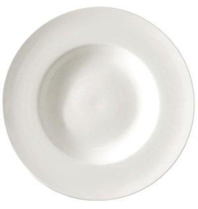 Lumina Suppenteller   Lumina Weißes Porzellan   260mm   4 Stück