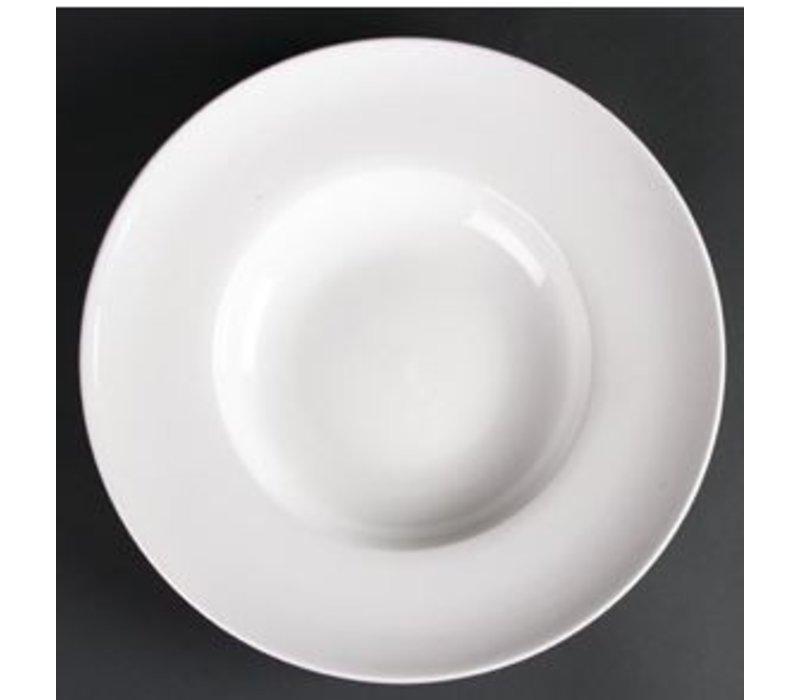 XXLselect Suppenteller | Lumina Weißes Porzellan | 260mm | 4 Stück