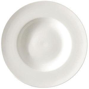 XXLselect Suppenteller | Lumina Weißes Porzellan | 310mm | 2 Stück