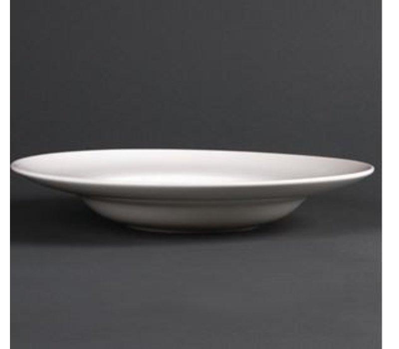 XXLselect Soup Plate   Lumina White Porcelain   310mm   2 pieces