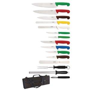 XXLselect Messer 15 Stück | Hygiplas | Inkl. Reisetasche