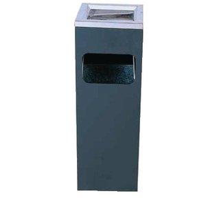XXLselect Afvalbak / Papierbar met Asbak - Zwart - 200x200x(h)600mm.