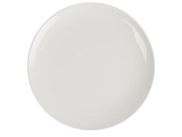 XXLselect Coupe Platte | Lumina Weißes Porzellan | 300mm | 2 Stück