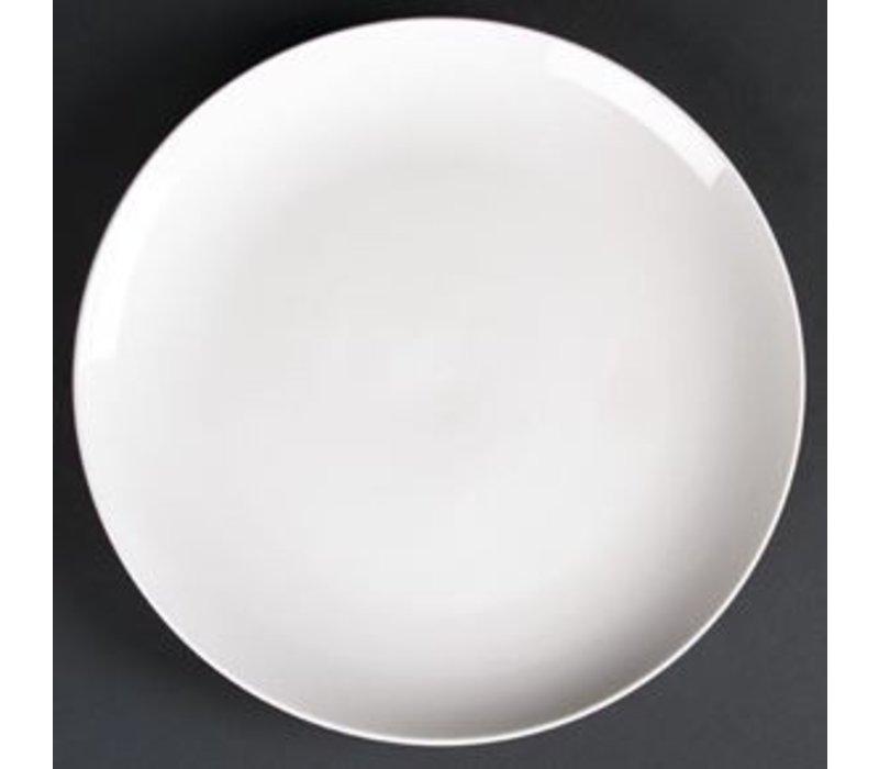 XXLselect Coupe Plate   Lumina White Porcelain   300mm   2 pieces