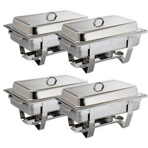 XXLselect Chafing Dish Multipak | GN1/1 | 4 stuks