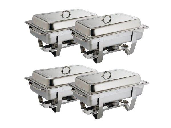 Olympia Chafing Dish Multipak | GN1/1 | 4 stuks