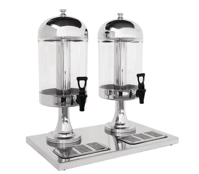 Olympia Drankdispenser Dubbel | Plastic/RVS | 2x 6,5 Liter