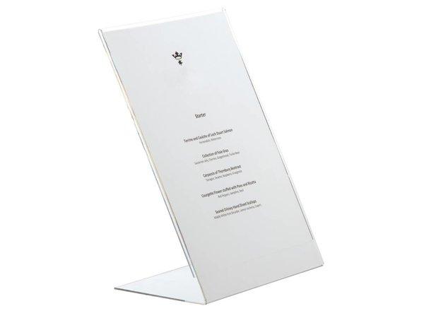 XXLselect Menukaart Standaard A4 | Schuin Plexiglas