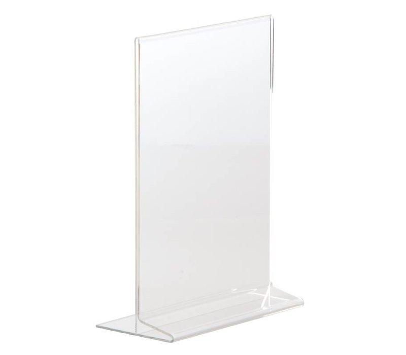 XXLselect Menukaart standaard A5 | Recht Plexiglas