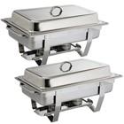 XXLselect Chafing Dish Duopak Milan | 2x GN1/1 | Zilverkleurig
