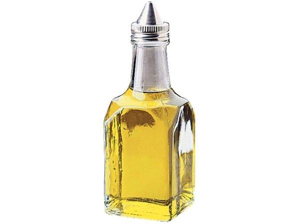 XXLselect Olie/Azijnflesje van Glas | Draaidop Verchroomd | 12 Stuks
