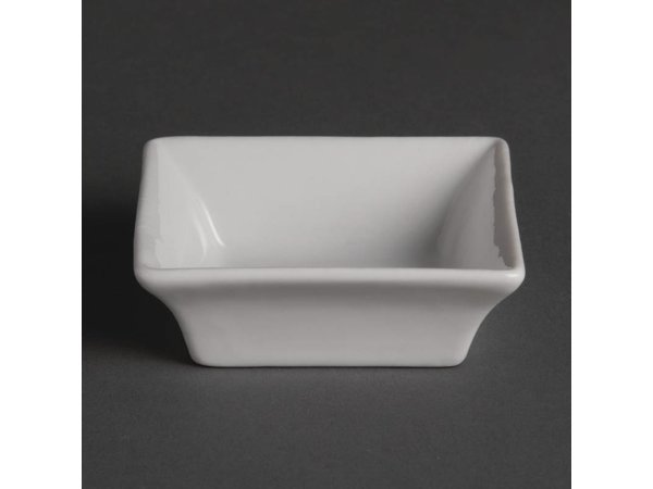 Olympia Amuse Schaaltje | Wit Porselein | 75x75mm | 12 Stuks