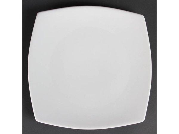 Olympia Bord Afgerond | Olympia Wit Porselein | 270mm | 6 Stuks