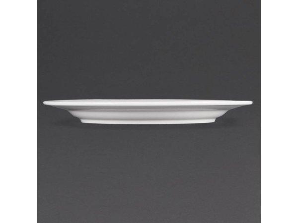 Olympia Bord Brede Rand | Olympia Wit Porselein | 165mm | 12 Stuks