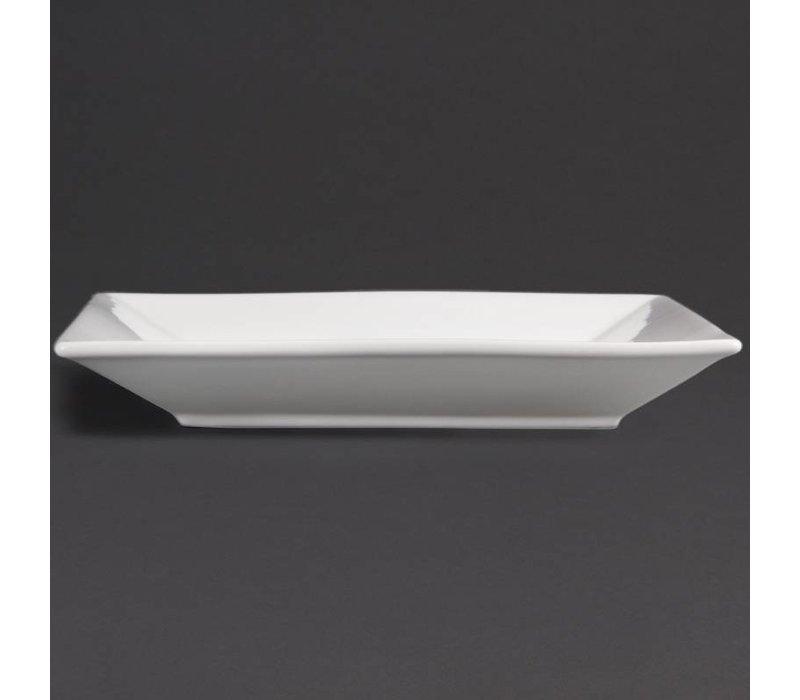 Olympia Bord Breed Vierkant | Olympia Wit Porselein | 250mm | 6 Stuks
