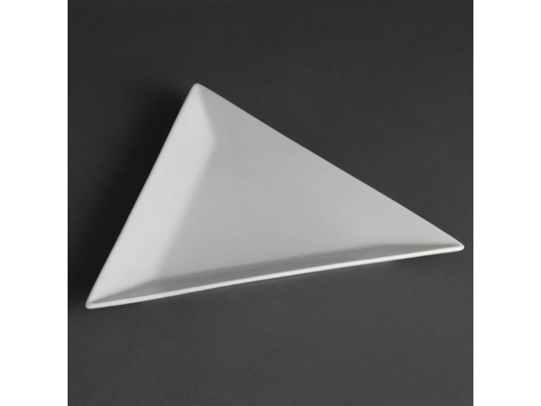 Olympia Bord Driehoek | Olympia Wit Porselein | 180mm | 12 Stuks