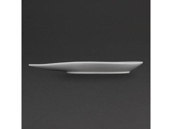 Olympia Bord Druppelvorm | Olympia Wit Porselein | 255x207x37mm | 6 Stuks