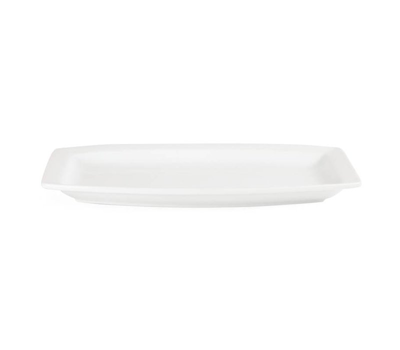 Olympia Bord Rechthoekig | Olympia Wit Porselein | 320mm | 6 Stuks