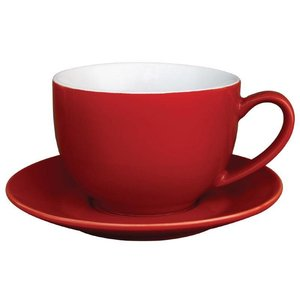 XXLselect Cappuccinokop Rood | Olympia Porselein | 340ml | 12 Stuks