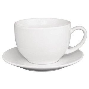 XXLselect Cappuccinokop Wit | Olympia Porselein | 340ml | 12 Stuks