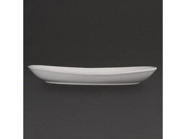Olympia Diepe Ovale Schaal | Olympia Wit Porselein | 300mm | 4 Stuks