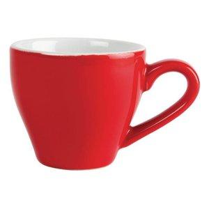 XXLselect Espressokop Rood | Olympia Porselein | 100ml | 12 Stuks