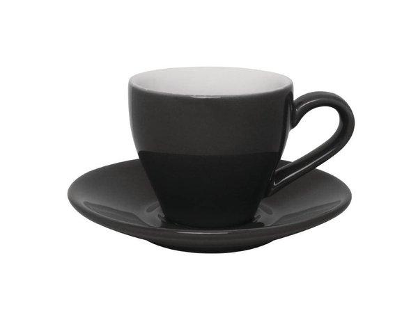Olympia Espresso Schotel Grijs | Olympia Porselein | 12 Stuks