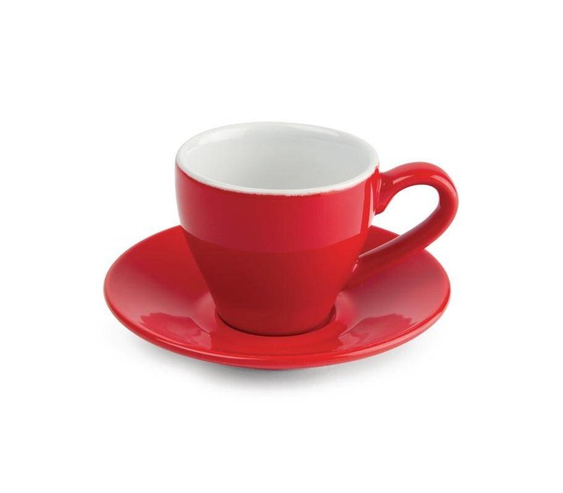 Olympia Espresso Schotel Rood | Olympia Porselein | 12 Stuks