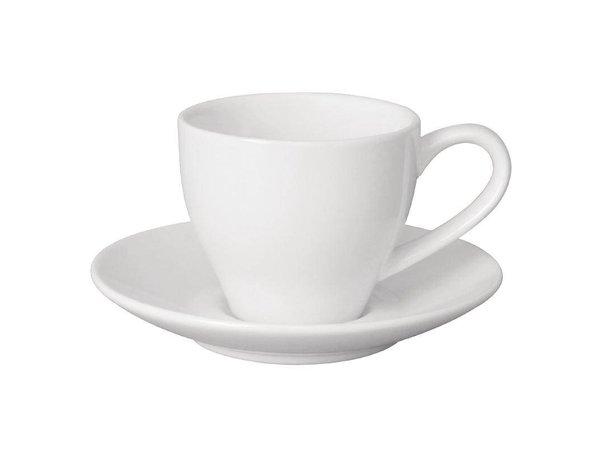 Olympia Espresso Schotel Wit | Olympia Porselein | 12 Stuks