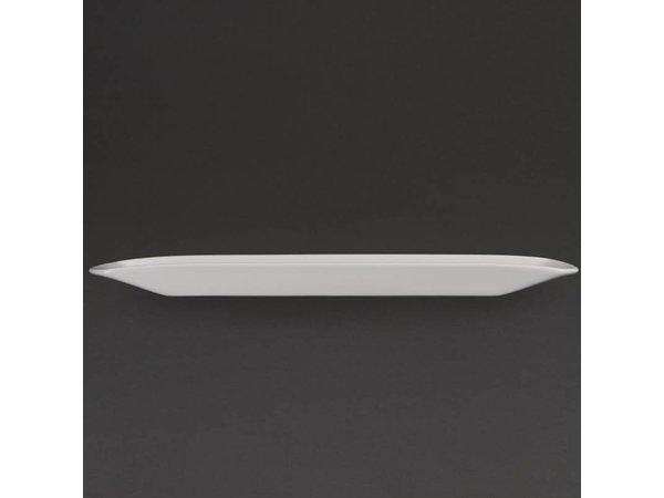 Olympia Gondolaschaal | Olympia Wit Porselein | 500x100x30mm