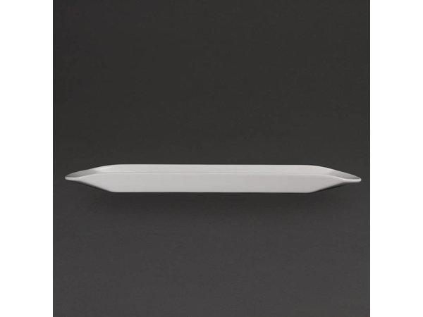 Olympia Gondolaschaal | Olympia Wit Porselein | 560x150x35mm
