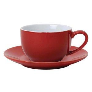 XXLselect Koffiekop Rood | Olympia Porselein | 230ml | 12 Stuks