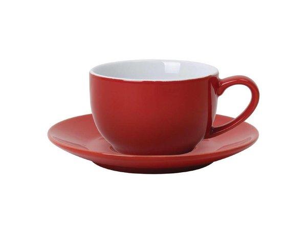 Olympia Koffiekop Rood | Olympia Porselein | 230ml | 12 Stuks